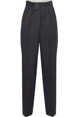 Maison Margiela Wool Tailored Straight Leg Pants