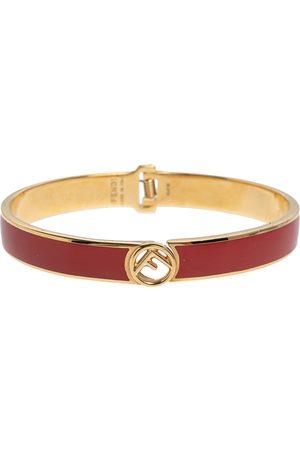 Fendi Women Bracelets - F is Enamel Cuff Bracelet L