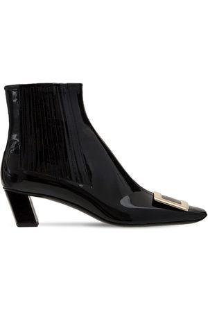 Roger Vivier Women Boots - 45mm Belle Vivier Patent Leather Boots