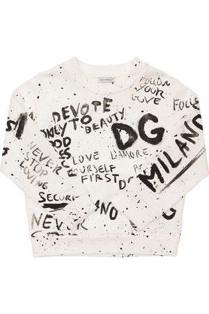 Dolce & Gabbana All Over Print Cotton Sweatshirt
