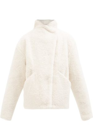 Frame Women Jackets - Recycled Faux-shearling Sherpa Jacket - Womens - Ivory