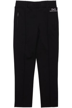 Dolce & Gabbana Logo Print Viscose Blend Pants