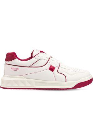 VALENTINO GARAVANI Mid-top Leather Sneakers W/studs