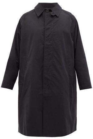 STUDIO NICHOLSON Romer Cotton-gabardine Coat - Mens - Dark Navy