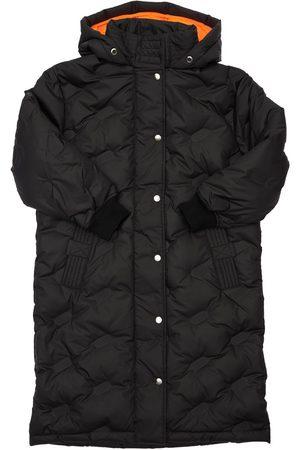 Diesel Quilted Hooded Nylon Long Down Coat
