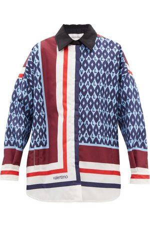 VALENTINO Archival Scarf-print Canvas Jacket - Womens - Multi