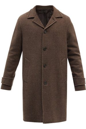 OFFICINE GENERALE Stephane Prince Of Wales-check Wool Coat - Mens