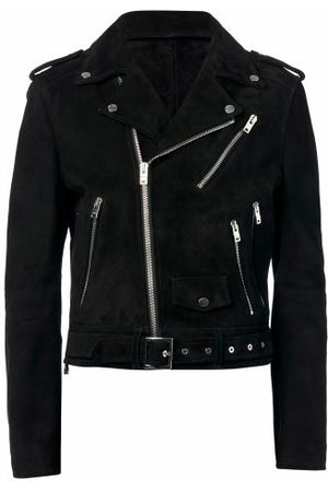 Amiri Perfecto Suede Biker Jacket - Mens