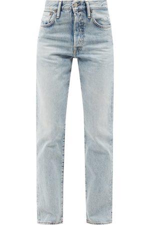 Acne Studios 1997 High-rise Straight-leg Jeans - Womens - Light Denim