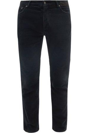 Palm Angels Men Skinny Pants - Logo-print Cotton-corduroy Slim-leg Trousers - Mens
