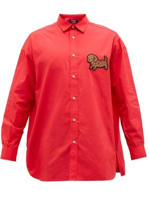 Jacquemus Dog-appliqué Cotton-poplin Shirt - Mens