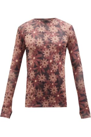 Jacquemus Floral-print Jersey Long-sleeved T-shirt - Mens