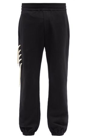 CRAIG GREEN Laced Cotton-jersey Track Pants - Mens