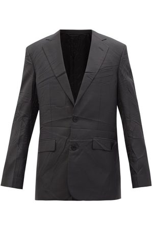 Balenciaga Men Blazers - Single-breasted Crinkled-twill Suit Jacket - Mens