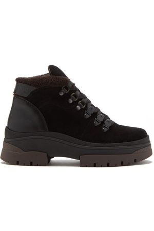 See by Chloé Aure Shearling-lined Suede Hiking Boots - Womens - Dark