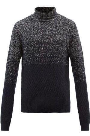 OLIVER SPENCER Men Turtlenecks - Talbot Ribbed Roll-neck Mélange-wool Sweater - Mens - Navy Multi