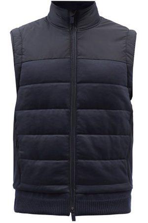 Ermenegildo Zegna High-neck Quilted Merino-wool Gilet - Mens - Navy