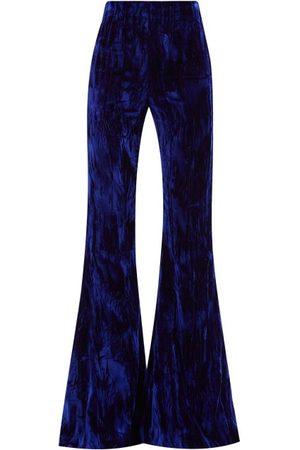 16Arlington Brisbane High-rise Satin Flared Suit Trousers - Womens - Navy