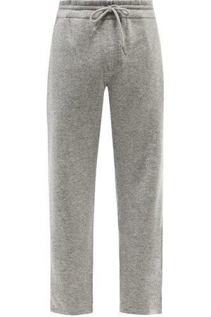 Ermenegildo Zegna Drawstring Wool-blend Track Pants - Mens - Grey