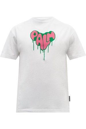 Palm Angels Logo-print Cotton-jersey T-shirt - Mens