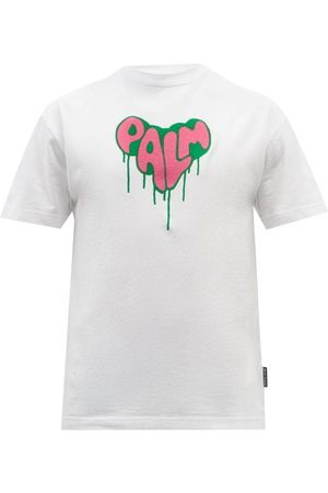 Palm Angels Men T-shirts - Logo-print Cotton-jersey T-shirt - Mens