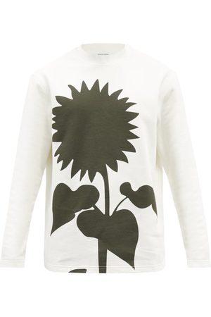CRAIG GREEN Men Sports Hoodies - Flower-print Cotton-jersey Sweatshirt - Mens
