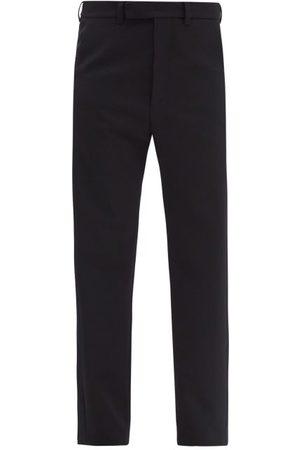 Colville Women Straight Leg Pants - Twisted High-rise Wool Straight-leg Trousers - Womens - Navy