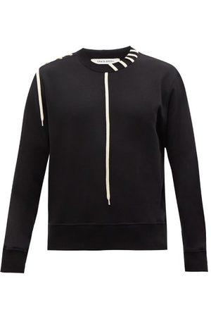 CRAIG GREEN Laced Cotton-jersey Sweatshirt - Mens
