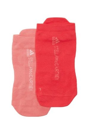 adidas Pack Of Two Leopard-jacquard Ankle Socks - Womens