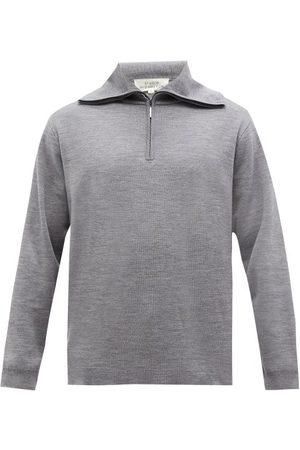STUDIO NICHOLSON Men Turtlenecks - Lak High-neck Merino-wool Jersey Sweater - Mens - Grey
