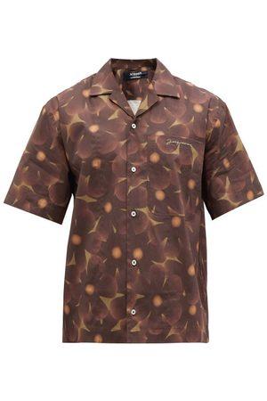 Jacquemus Floral-print Cotton-poplin Short-sleeve Shirt - Mens