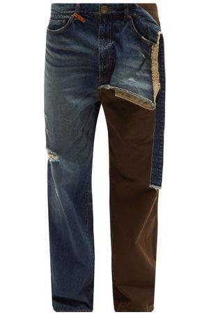 MIHARA YASUHIRO Men Straight - Combined Straight-leg Cotton-twill Chino Jeans - Mens - Multi
