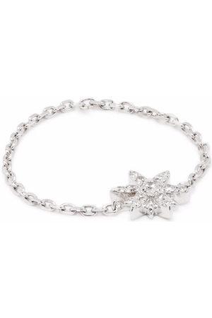 DJULA Women Rings - 18kt white gold Sun diamond chain ring