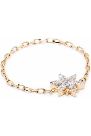 DJULA Women Rings - 18kt yellow Sun diamond chain ring