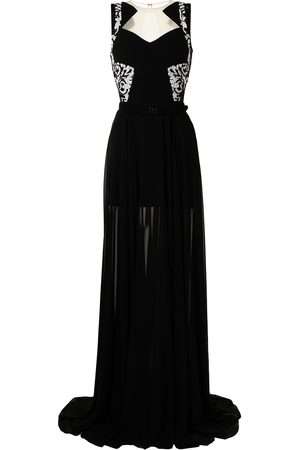 Saiid Kobeisy Women Evening dresses - Beaded angular-collar evening dress