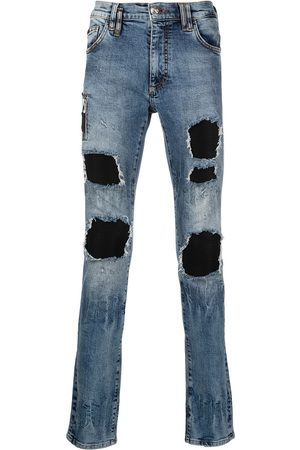 Philipp Plein Men Skinny - Biker Destroyed skinny jeans