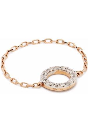 DJULA Women Rings - 18kt rose gold Circle chain diamond ring