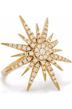 DJULA Women Rings - 18kt yellow Big Sun diamond ring