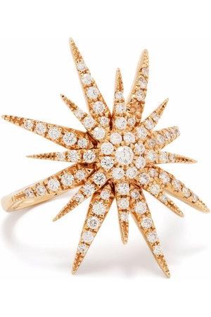 DJULA Women Rings - 18kt rose gold Big Sun diamond ring