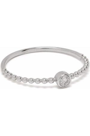 DJULA Women Rings - 18kt white gold little solitaire diamond ring