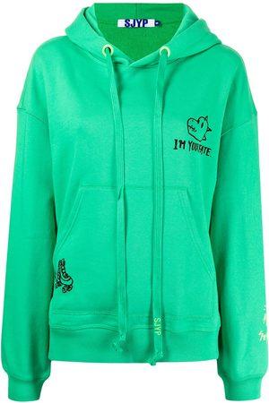 SJYP Women Hoodies - Fate Dino cotton hoodie