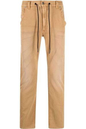 Diesel Men Straight - KROOLEY JoggJeans® drawstring jeans - Neutrals
