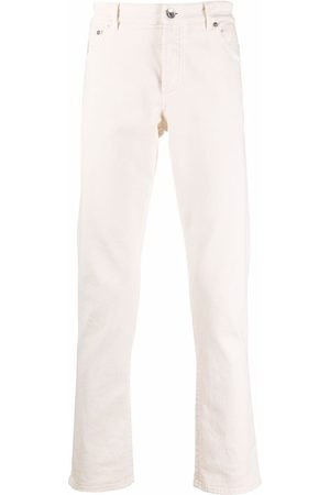 Brunello Cucinelli Men High Waisted - Straight-leg high rise jeans - Neutrals