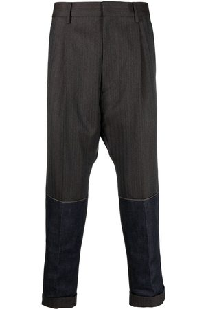 Dsquared2 Men Formal Pants - Contrasting-panel tailored trousers - Grey