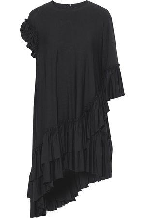 Simone Rocha Woman Asymmetric Ruffled Stretch-jersey Mini Dress Size 6