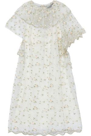 Simone Rocha Woman Embroidered Gathered Tulle Midi Dress Ivory Size 10