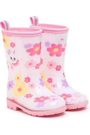 Miki House Rain Boots - Floral-print wellie boots