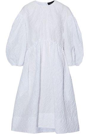 Simone Rocha Women Midi Dresses - Woman Gathered Cloqué Dress Size 10