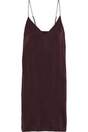 SKIN Woman Tatiana Washed Stretch-silk Chemise Burgundy Size 0