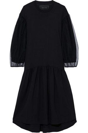 Simone Rocha Woman Tulle-paneled Ponte Midi Dress Size L